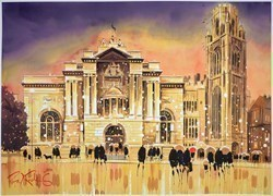 Museum Reflections - Bristol by Peter J Rodgers -  sized 28x20 inches. Available from Whitewall Galleries